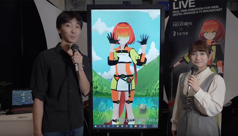 Noitom showcases live animation motion capture at DC Expo in Tokyo 2019.
