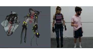 Motion capture technology by Noitom used in digital art project by Shira Shavdron