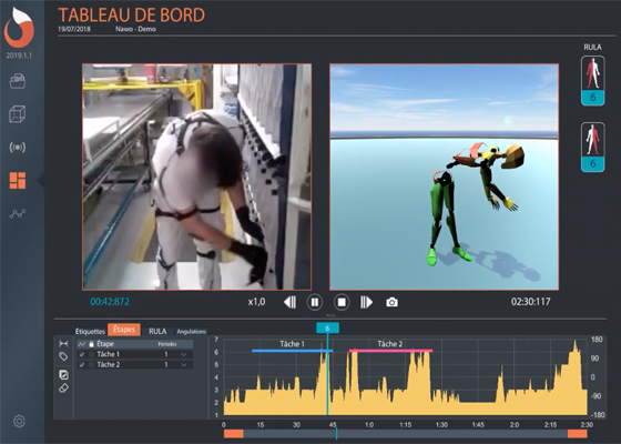 Perception Neuron motion capture assists NAWO in workspace ergonomic safety.